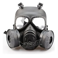 Wholesale Halloween Gas Masks - New good quality Cosplay CS Wargame Tactical Airsoft Skull Anti-Fog Dummy Gas Protective Mask tactical equipment