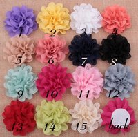 Wholesale Infant Flower Hair Clips - Baby Infant Multilayers Hollow hole lace Fabric Flowers without hair clips For Kids DIY headbands Hair Styling Accessories AW18