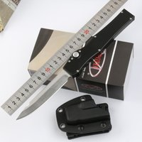 Wholesale cnc v - VESPA 150-4 HALO V Tanto 61HRC ELMAX Blade 150-10 HALO V 150-10 5oz Single action CNC Aluminum Handle Tactical outdoor knife knives 5 colors