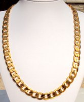 Wholesale Money Cool - Heavy COOL 24K real Yellow GOLD Layered LINK MENS Chain 12mm WIDE NECKLACE 23.5 100% real gold, not solid not money.