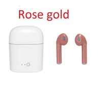Wholesale Iphone Headphones Sale - 1pc sale TWS i7S Mini Earphones Twins Earbuds Setero Headphone with Mic Bluetooth 4.2 Headset for iphone 8 Android Samsung