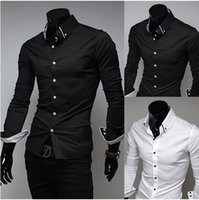 Wholesale Mens Casual Imports - free shipping New Arrival Top Quality Brand Mens Imported Clothing mens Dress Shirts Men Striped lining Silk Long sleeve Shirts