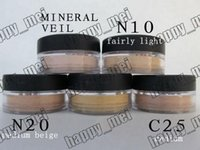 Wholesale new veils - Free Shipping ePacket New Minerals Powder Original Mineral Veil Foundation!N10.N20.C10.Mineral Veil