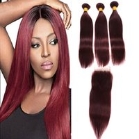 Wholesale brazilian straight hair weave sale for sale - Group buy Peruvian j Straight Hair With Closure Brazilian Virgin Hair With Lace Closure Bundles Human Hair Weaves With Closure Sale