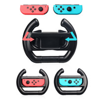 Wholesale Game Steering - 2pcs ABS Steering Wheel Handle Stand Holder for Nintendo Nintend Switch Left Right Joy-Con Joycon NS NX Controller Game