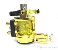 Wholesale Gold Rotary Tattoo Machine - New Design Light silent Gold Motor Rotary Tattoo Gun Tattoo Machine Swashdrive Handmade Smooth Free Shipping