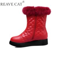 Wholesale Gingham Buttons - 2015 New winter Snow boots Women zapatos mujer Fashion Black Red White Warm boots Hot sale Button Cow Muscle