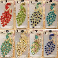 Wholesale Diamond Mobile Phone Cover - Rhinestone diamond bling cover case for SAMSUNG S3 S4 S5 S6 S6 EDGE 2015 NEW crystal mobile phone cover hard back cover case