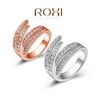 platin gold preis großhandel-ROXI Weihnachtsgeschenk roségold / platiniert Ring, Austrian Crystals Ring Nickelfrei Antiallergic Factory Preise