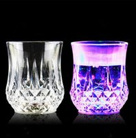 Wholesale Square Plastic Cup - LED Tumbler Flashing plastic cup led luminous cup fluorescence cups for bars evening show wedding and birthday party