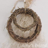 3pcs / Lot Mixed Size Wedding Accessories Material Natural Rattan Circle Stem Branch Ring Decoración de la Navidad Apoyos de la fotografía
