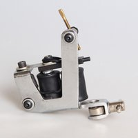 Wholesale Tattoo Guns Equipment - New Arrival Coil Tattoo Machine 8 Wrap Coils Tatoo Gun Silver Steel Tattoo Frame for Liner Shader Equipment Supply