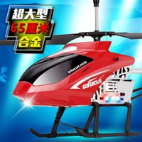 Wholesale Remote Control Toy Large Helicopter - Wholesale-65 cm large remote control aircraft alloy falling resistance model aviation manufacturers selling children's toy helicopter