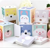 Wholesale Animal Cube boxed style Scratchpad notebook scratchpad self adhesive sticker memo pad N times stickers