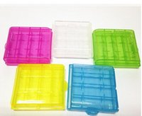 Wholesale Cheap Aa Battery Holders - AA AAA Battery case batteries cases Portable Hard Plastic Case Holder Storage Box transparent color cheap price with high quality