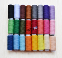 Wholesale Sewing Thread Purpose - New 24 Colour Spools Finest Quality Polyester Sewing All Purpose 100% Pure Cotton Thread Reel 10sets