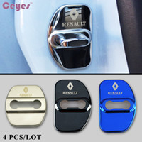 Wholesale renault door - Car Door Lock Cover for Renault duster captur megane 2 3 logan clio kadjar scenic Door Lock Protective Cover Car Styling 2pcs lot