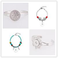 joyería de aleación de calidad al por mayor-Broche BraceletBangles pulsera de aleación de alta calidad Fit 18 mm Charm Button Snaps Jewelry SA021