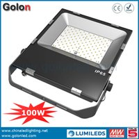 Wholesale Led Floodlight Driver - 2016 new 100 watt LED flood light meanwell driver led Competitive price and Super Bright DHL Fedex free shipping 100W led floodlight