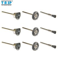 """Wholesale Steel Wire Wheel Brushes - Free Shipping 9PC Dremel Rotary Steel Wire Brushes Wheels Set with 1 8"""" Shank Dremel Accessories"""