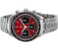 наручные часы мужские оптовых-Роскошный Швейцарский Лучший Бренд Кварцевый Хронограф Мужчины Часы Из Нержавеющей Стали с пряжкой Дата Красный Циферблат Лица Мода Мужское Платье Наручные Часы Человек Продажа