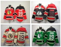 Wholesale Nhl Shirts - 30 Teams-Wholesale Best Quality NHL Jersey Shirt Black Hawk Team TOEW 19 # Ice Hockey With Hood Fleece Free Shipping