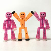 Wholesale Toys Gift Animation - Lot5pcs Set Zing Stikbot Pink Clean Orange ROBOT ANIMATION Single Figures Kid Toy For Birthday Gift CA144