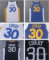 Compra Jersey Del Curry Di Stephen-# 30 Stephen Curry Warrior Golden State 2017-18 Nuovo stile AU 100% maglie pallacanestro cucita Embroideried Sports Wears