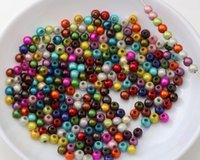 Quente! 1000Pcs 4mm Mixed Color 3D Illusion Acrylic Miracle Spacer Beads DIY Jewelry