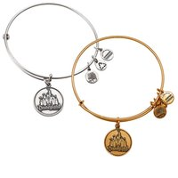 Wholesale American Castles - Sleeping Beauty Castle Bangle by Alex and Ani original bangle Antique silver or gold Expandable Wire copper man women bracelet party gifts