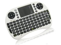 Wholesale Portable mini keyboard Rii Mini i8 Wireless Keyboard with Touchpad for PC Pad Google Andriod TV Box DHL free ship