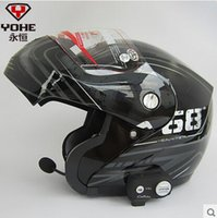 Wholesale Helmet Bluetooth Phone - Wholesale-Eternal YH- 936 High-end bluetooth helmets Stereo music Answer the phone open face helmet motorcycle Winter helmet