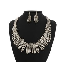 Wholesale Antique Asian Table - 2015 Rattan Outdoor Furniture Iron Side Table Outdoor Patio Furniture High-end Pop Punk Antique Jewelry Necklace Earrings Set Fashion Trade