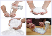 Wholesale Wholesale Fake Snow - new Christmas Decoration Instant Snow Magic Prop DIY Instant Artificial Snow Powder Simulation Fake Snow For Night Party 33
