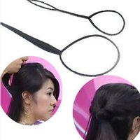 Wholesale Topsy Tail Hair Accessory - Wholesale-1 Pair Chic Magic Plastic Topsy Tail Hair Braid Headwear Hair Tools Styling Casual Twist Braid Ponytail Styling Accessory