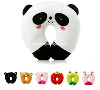 Wholesale Neck Support Pillow Cute - Plush Toys 9 Color Home Supplies Cute U Shaped Healthy Massage Cartoon Pillow Travelling Car Drive Pillows Office Nap Neck Support Rest