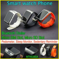 "Wholesale Spy Calls - GV08 Wearable Bluetooth Smart Watch Phone With 1.3Mp spy camera,1.54""touch screen Bluetooth wristwatch for iPhone Samsung HTC Android Phone"