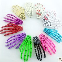 Wholesale Skull Barrettes - Skeleton Claws Skull Hand Hair Clip Hairpin Zombie Punk Horror Bobby Pin Barrettes hair clip