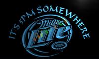 Wholesale Neon Bar Lite - LA407-TM Miller Lite It's 5 pm Somewhere Neon Light Sign. Advertising. led panel.jpg