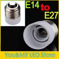 Wholesale screw bulb adapter resale online - White color Lamp Holder adapter Converters Base Converter E14 to E27 or E27 to E14 for LED candle light LED bulbs screw base
