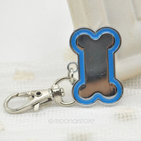 Wholesale Harness Stainless - 1 Pcs Top Quality Cute Stainless Steel Metal Bone Shaped Pet Dog Cat ID Tag-Medium Name Tags 6 Colors free shipping lx*MHM470*5