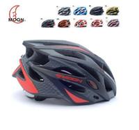 marques de casque de vélo achat en gros de-Casque de vélo de marque MOON Ultralight et Integrally moulé vélo professionnel / casque de vélo double usage route ou VTT 6 couleurs