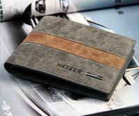 Wholesale Wallet Mens Nylon - New custom leather wallet cute mens wallets Short designer Card holder Fashion Purse wallets for men free shipping