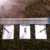 ingrosso stent tubo-Top Quality Wedding Fondale Decorazione Stand tubo in acciaio inox garza tenda stent 3 * 3 m 3 * 6 m 4 * 4 m 4 * 8 m Disponibile