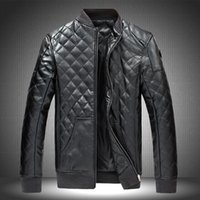Wholesale Light Brown Coat Male - Fall-M -5 xl men's leather jackets, water washedleather men jacket, fashionable male motorcyclejacket coat, black, light brown,