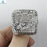 Wholesale Detroit Ring - 2008 Detroit Red Wings Stanley Cup Championship Ring Crystal Silver Pleated rings for men Jewelry wholesale