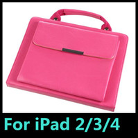 Wholesale Carrying Handle For Bags - Handle Bag Portable Carry Pouch folio PU Leather Case Cover With Stand For iPad 2 3 4 Protective