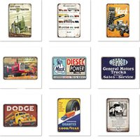 60000 Metal tin sign Sinclair Motor Oil Texaco Metals Painting poster home bar decor wall art pictures Vintage Garage Man Cave Retro 20X30cm WY840