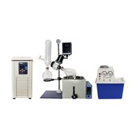 ZOIBKD Lab Supplies RE-201D Rotary Evaporator Includes Chiller   Vacuum Pump TurnKey Solution