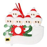 diy pvc mask 2021 - DIY Name Blessings 3D Snowman Tree Hanging Pendant PVC Spot Mask Christmas Decorations Santa Claus with fast ship OOA96852VYQ P443